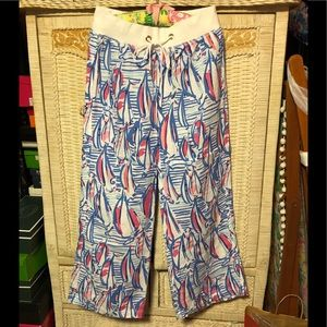 EUC Lilly Pulitzer Beach Pant RRR Red Right return